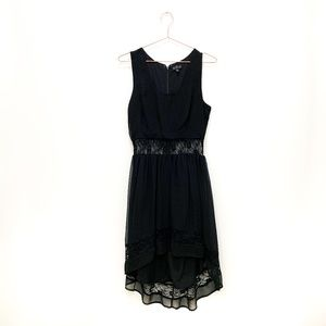 BLACK TOPSHOP HIGH LOW DRESS